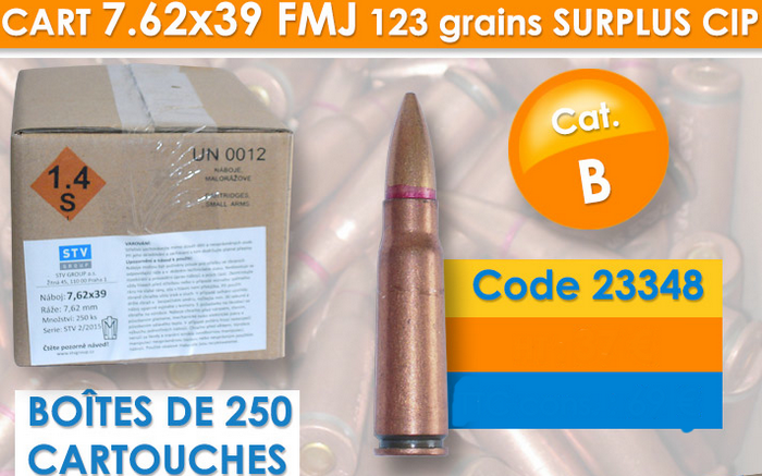 munition 7,62x39 militaire armurerie barraud toulouse 31